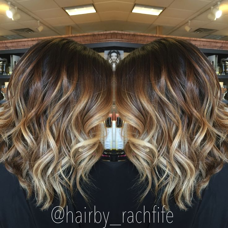 Stretched root balayage ombre highlights Hair by Rachel Fife @ Sara Fraraccio Salon in Akron, Ohio