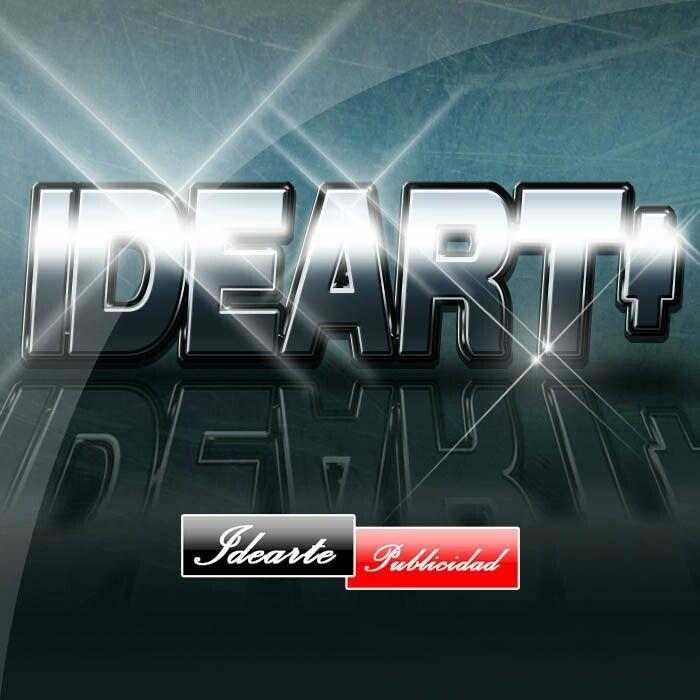 Texto metalizado (logo youtube)
