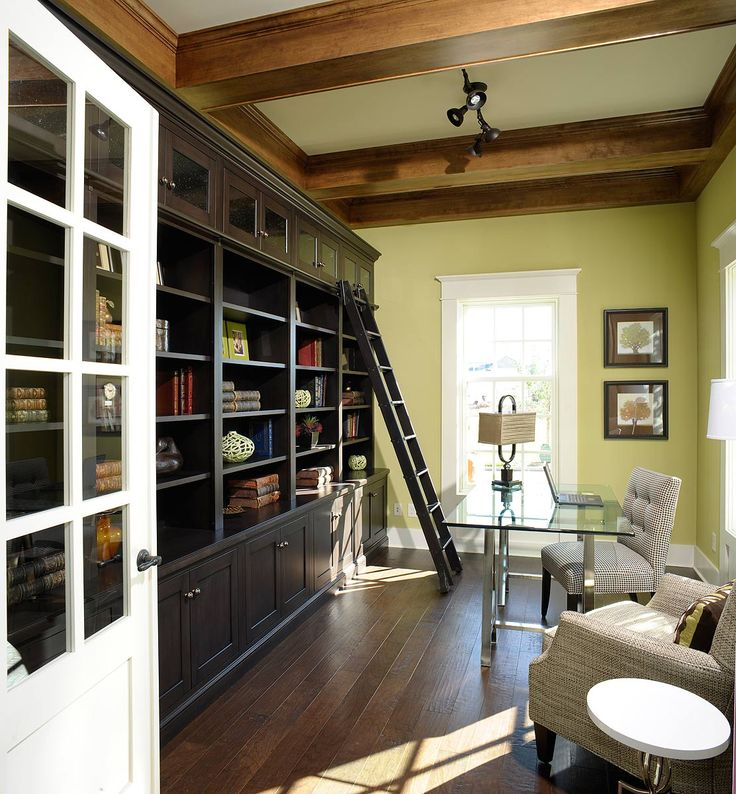 Home Office Library Design Ideas: 42 Best Images About Home Office/Library Spaces On