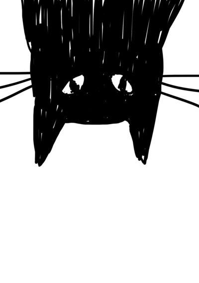 ★ Jess The Black and White Cat Art Print ★