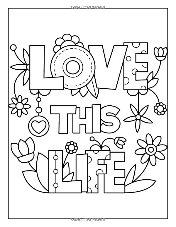 Inspiring Quotes to Color : Alisa Calder:   Coloring pages ...