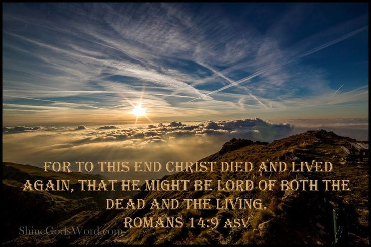 For to this end Christ died and lived again, that he might be Lord of both the dead and the living.