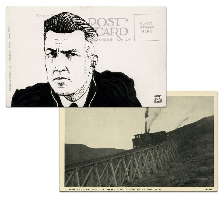 Gordon Cole postcard by Paul Willoughby. From In the Trees: Twin Peaks 20th Anniversary Art Exhibition