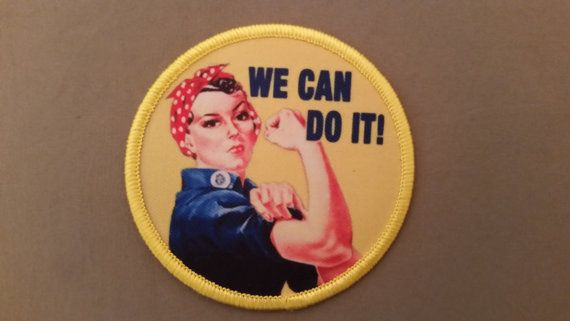 we can do it rosie the riveter patch by patchclub on Etsy