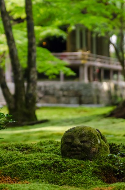 Jizo statue at Sanzen-in Temple, Kyoto, Japan