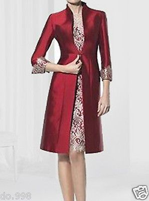 Mother Of The Bride Outfit Lace Knee Length Women Dress Groom Mother Dress 2016