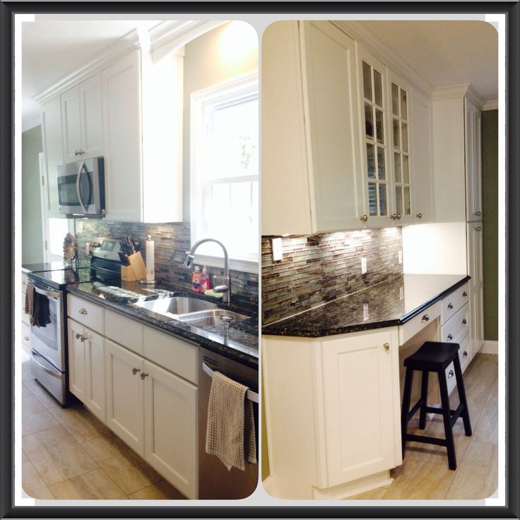 My Galley Kitchen Reno: My HGTV Kitchen With Bright White Cabinets, Butterfly