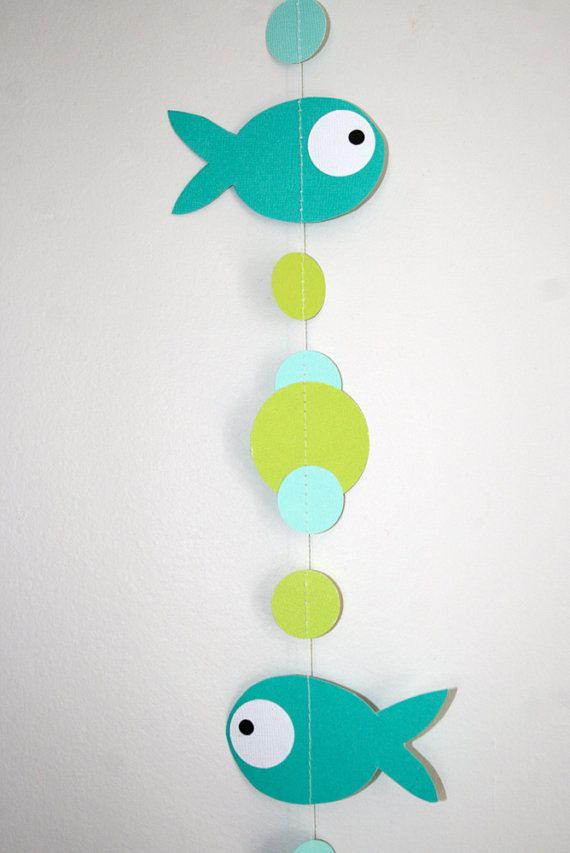 fish garland : 8 fish and bubble