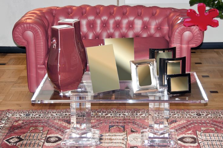 Acrylic interiors - Lucite Acrylic coffe table - TAVOLINI DA SALOTTO IN PLEXIGLASS | Tavolo trasparente in plexiglass 12.mod. APE   | Tavolino in plexiglas cm.110 x 70 h.40 - piano sp.mm.25 - 2 colonne piani nn.350 x 350 fusto sez.mm.100  #lucite #design #homedecor #acrylic