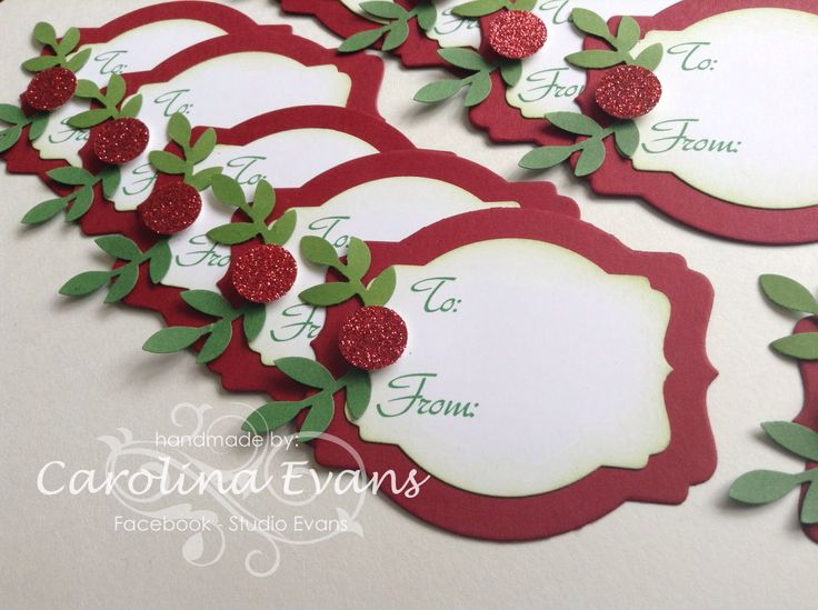 Simple Christmas Tags visit - http;//studioevans.blogspot.com.au or Facebook - Studio Evans created by Carolina Evans