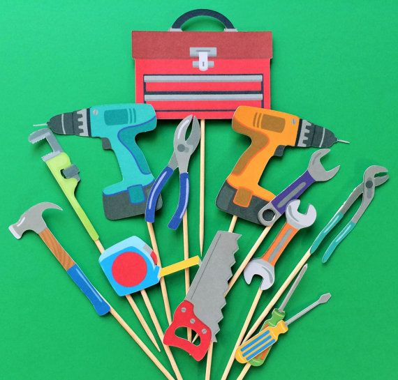 Tools cupcake topper tools toppers tool cake topper by Fairfable
