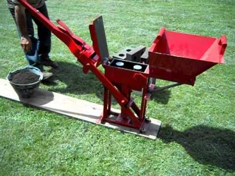 Máquina para fabricar ladrillos ecológicos (sin cocción) - YouTube