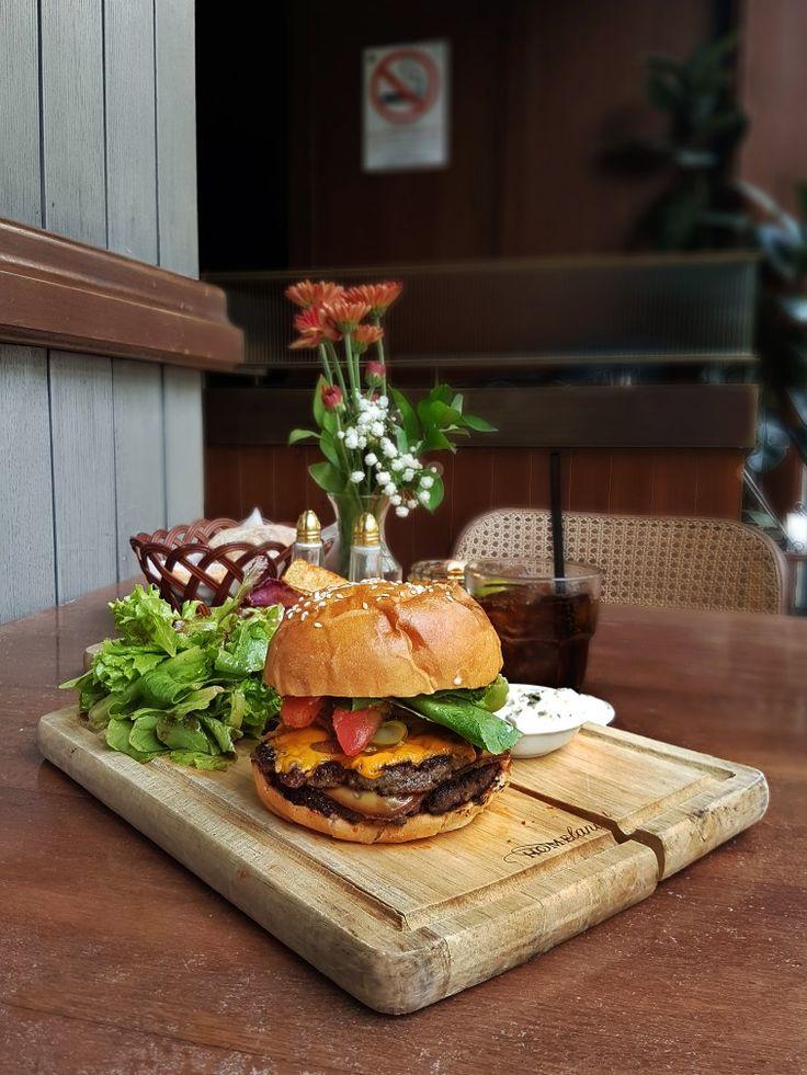 """""""Beef Burger, Pork Bacon, Cheddar, & Pickles"""", Olivier, Jakarta"""