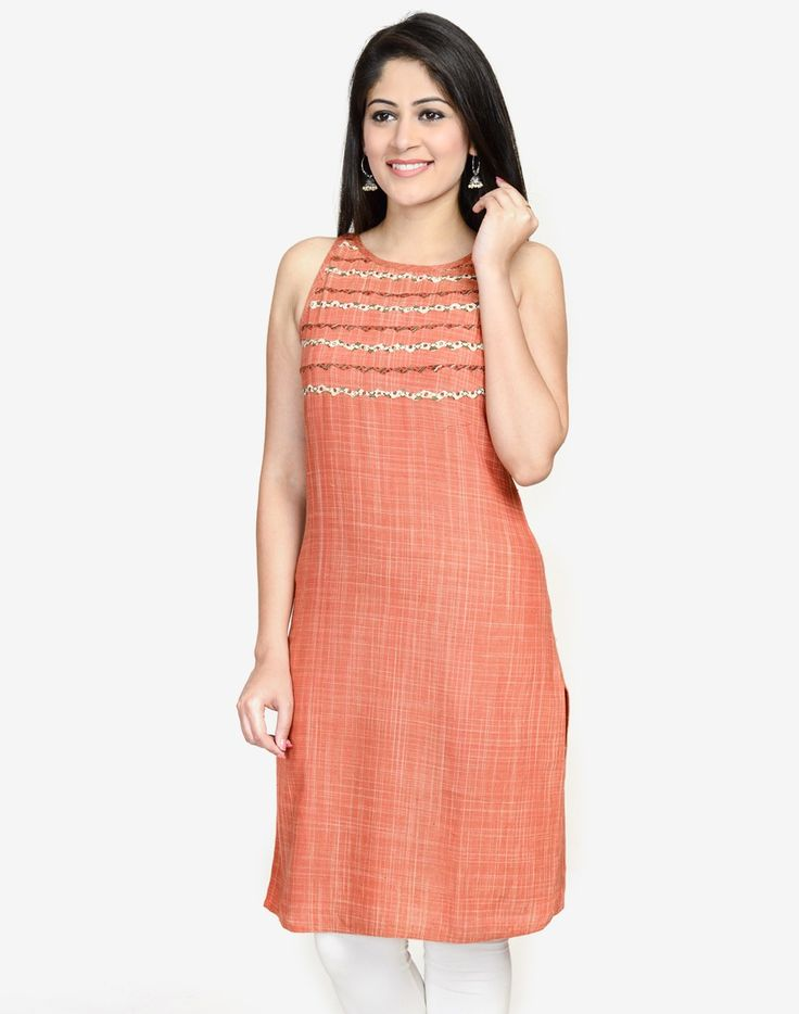 Cotton Khadi Bijli Halter Mini Kurta