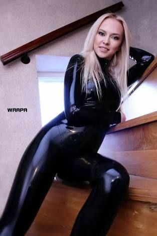 With you girls in latex catsuits