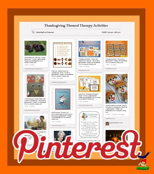 Pinterest Pinboard of the Week: Thanksgiving Themed Therapy Activities- Pinned by @PediaStaff – Please Visit http://ht.ly/63sNt for all our pediatric therapy pins