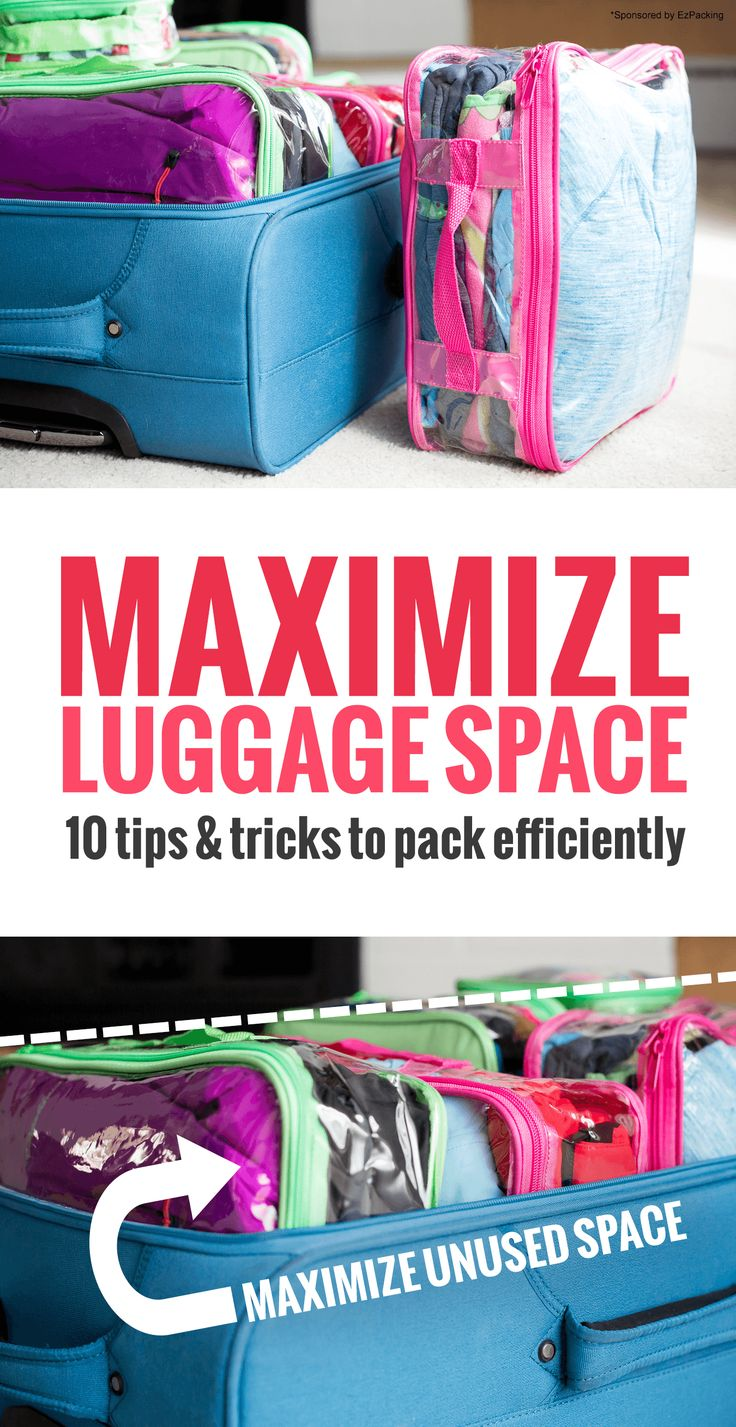 How to Maximize Space in Your Luggage: You'll be amazed at what's in this suitcase #ad *10 packing tips and hacks for your next family vacation
