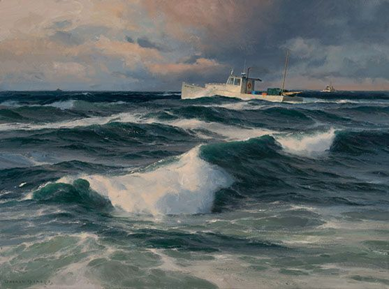 Donald Demers, Skirting the Reef,  Oil on linen, 18 x 24  inches