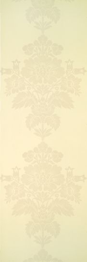 Pattern: DGH-200   Name: The Queen Flock Velvet - 02 Cream   Category: Buckingham Palace Flock Papers   DesignerWallcoverings.com  Specialty Wallpaper & Designer Wallcoverings for Home and Office.