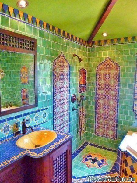 Яркая ванная в марокканском стиле   Дизайн ванной комнаты   Фотогалерея ремонта и дизайна   Школа ремонта. Ремонт своими руками. Советы профессионалов