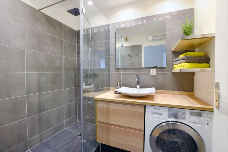 washing machine in bathroom cupboard - Google Search