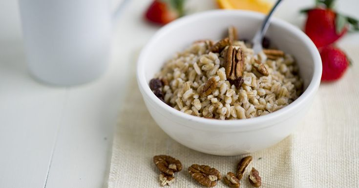 Like oatmeal, cooked barley is a healthy and versatile way to begin the day. Barley has been shown to reduce blood pressure and cholesterol, and may reduce the risk of heart disease. It's also an excellent source of fiber. Barley takes a while to cook, but fortunately it reheats beautifully. Make a large batch and enjoy it for breakfast all week....