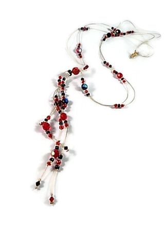 collier perle rouge anne black