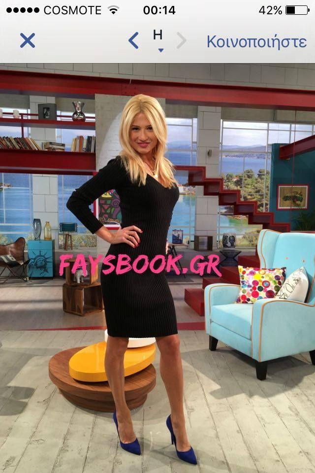ΦΑΙΗ ΣΚΟΡΔΑ Fay Skorda in Mourtzi shoes www.mourtzi.com #fayskorda #faysbook #electricblue #pumps #bluesuede
