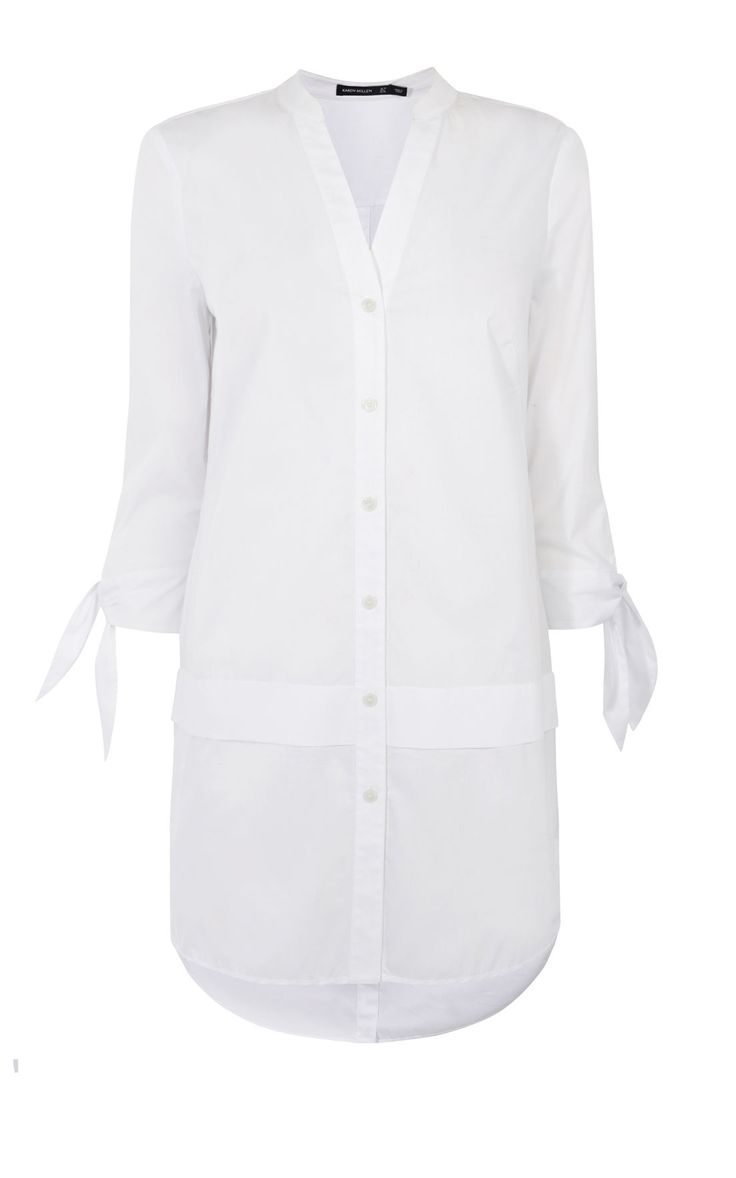 Karen Millen oversized white shirt £110 buttons to front & back & ties at cuff