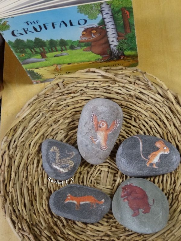 "Gruffalo story stones from Rachel ("",)"