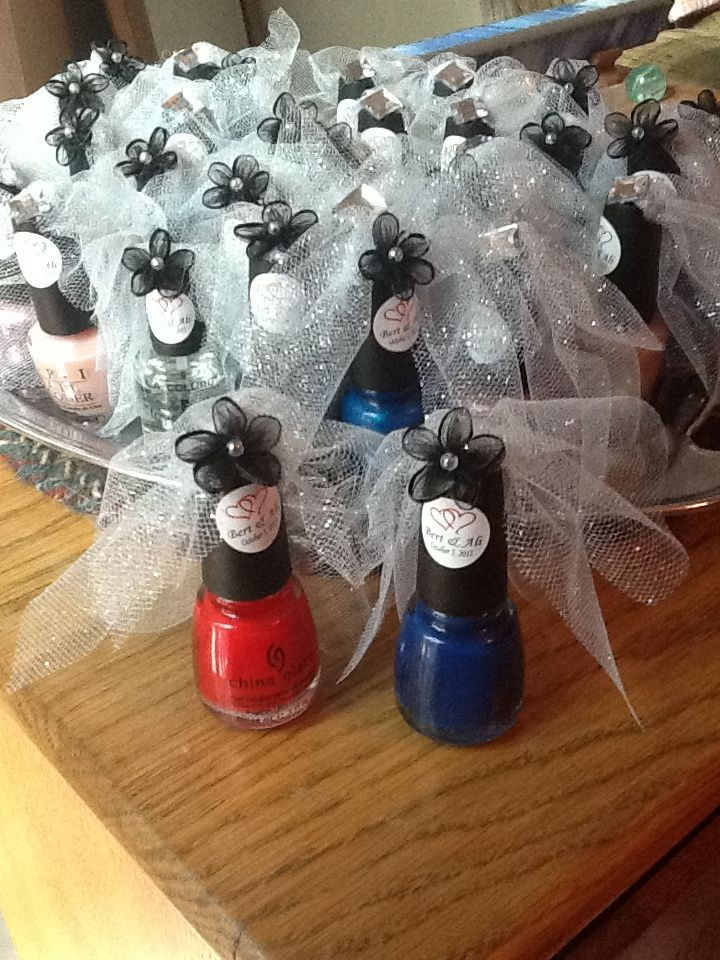 Bridal shower nail polish favors! Bridal shower favors