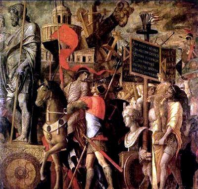 Andrea Mantegna - Wagon of the Triumph of Caesar