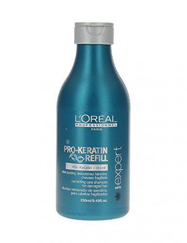 L'OREAL L'ORÉAL Professionnel Serie Expert Pro Keratin Shampoo: A deeply cleansing shampoo for weak, damaged hair Contains active…