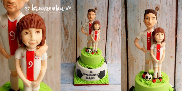 Tort w stylu piłkarskim dla małej fanki Lewandowskiego