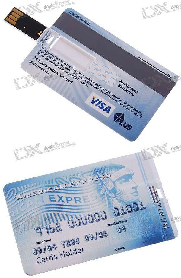 Amex credit card flash drive