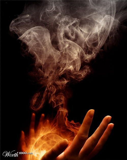 Look I can send smoke signals! The power of magic!