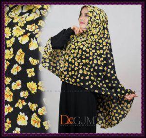 Jilbab Khimar Cantik Motif Bunga Terbaru Sakura deGJM hijab   Kerudung Modern