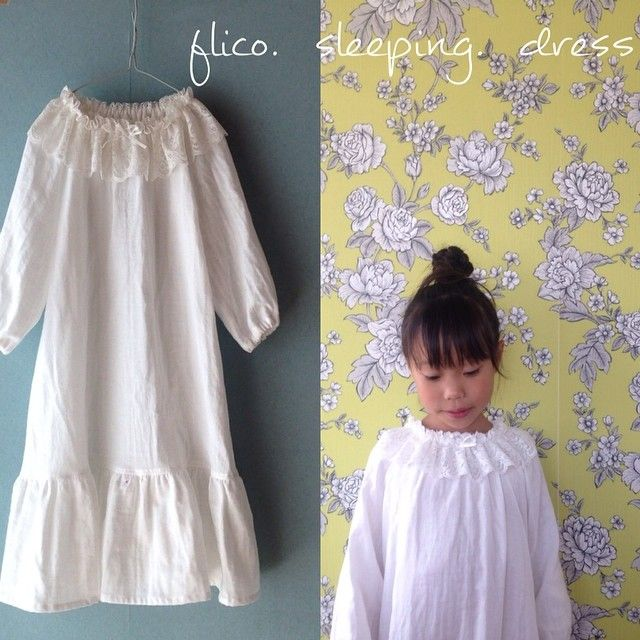 まもなく、 sleeping dress  ネグリジェの 販売を始めます。  #九州ハンドメイドフェスタ #熊本 #ハンドメイド #ダブルガーゼ sleepingdress#handmade #flico #フリコ