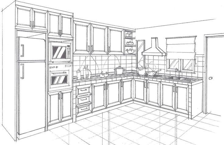 Раскраска дом моей мечты кухни