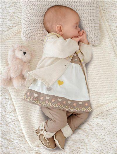 Ensemble 3 pièces fille bébé nouveau né ECRU - vertbaudet enfant                                                                                                                                                                                 Plus