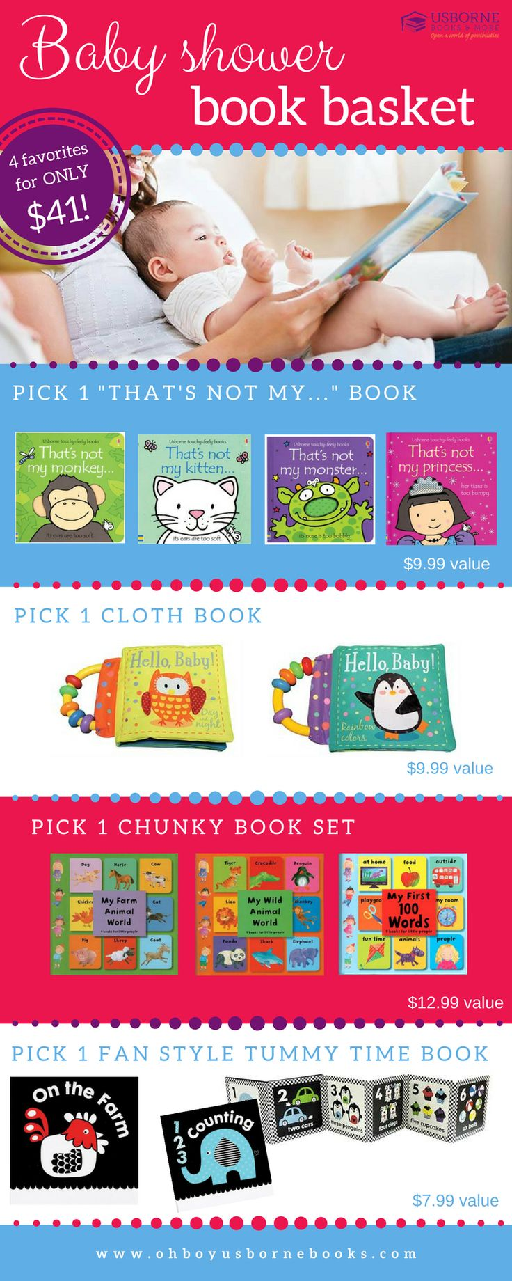 Are you looking for the perfect baby shower gift?  Put together a fun book basket!