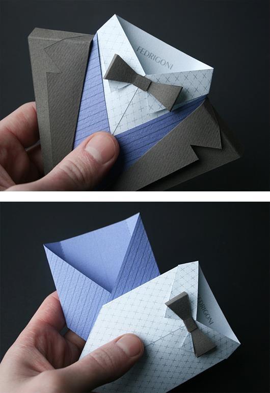 西裝造型的創意卡片