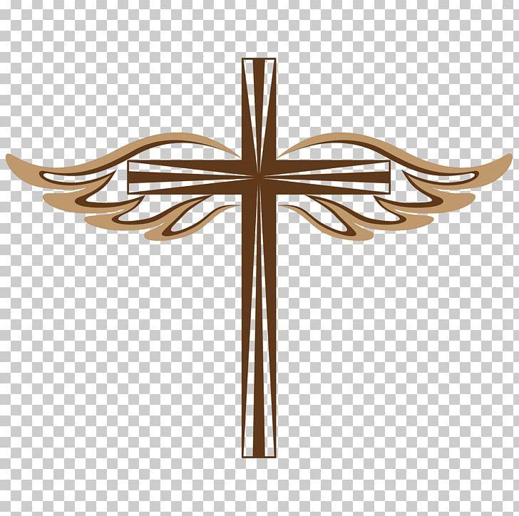 Christian Cross Crucifixion Png Angel Angel Wings Christmas Decoration Cross Decorations Christian Cross Png Crucifixion