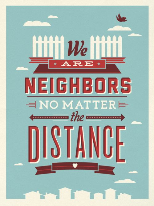 """My girlfriends will always be my """"neighbors""""; even when we grow up and move away! @typd1613"""