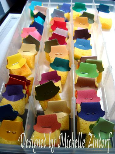 Organizing and Keeping Sponges for Each Ink Color