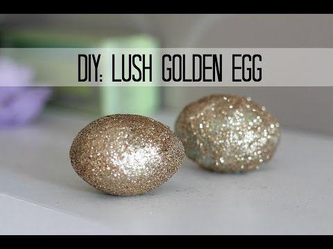 Lush DIY: GOLDEN EGG- bath melt and bath bomb in one ! + demo! - YouTube
