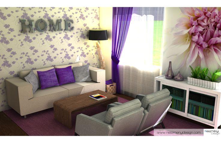 living room 3D visualization
