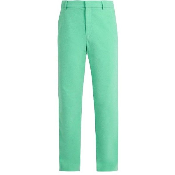 Sies Marjan Straight-leg cotton-corduroy trousers ($555) ❤ liked on Polyvore featuring men's fashion, men's clothing, men's pants, men's casual pants, mint, mens cotton pants, mens mint green pants, mens straight leg cargo pants, mens corduroy pants and men's casual cotton pants