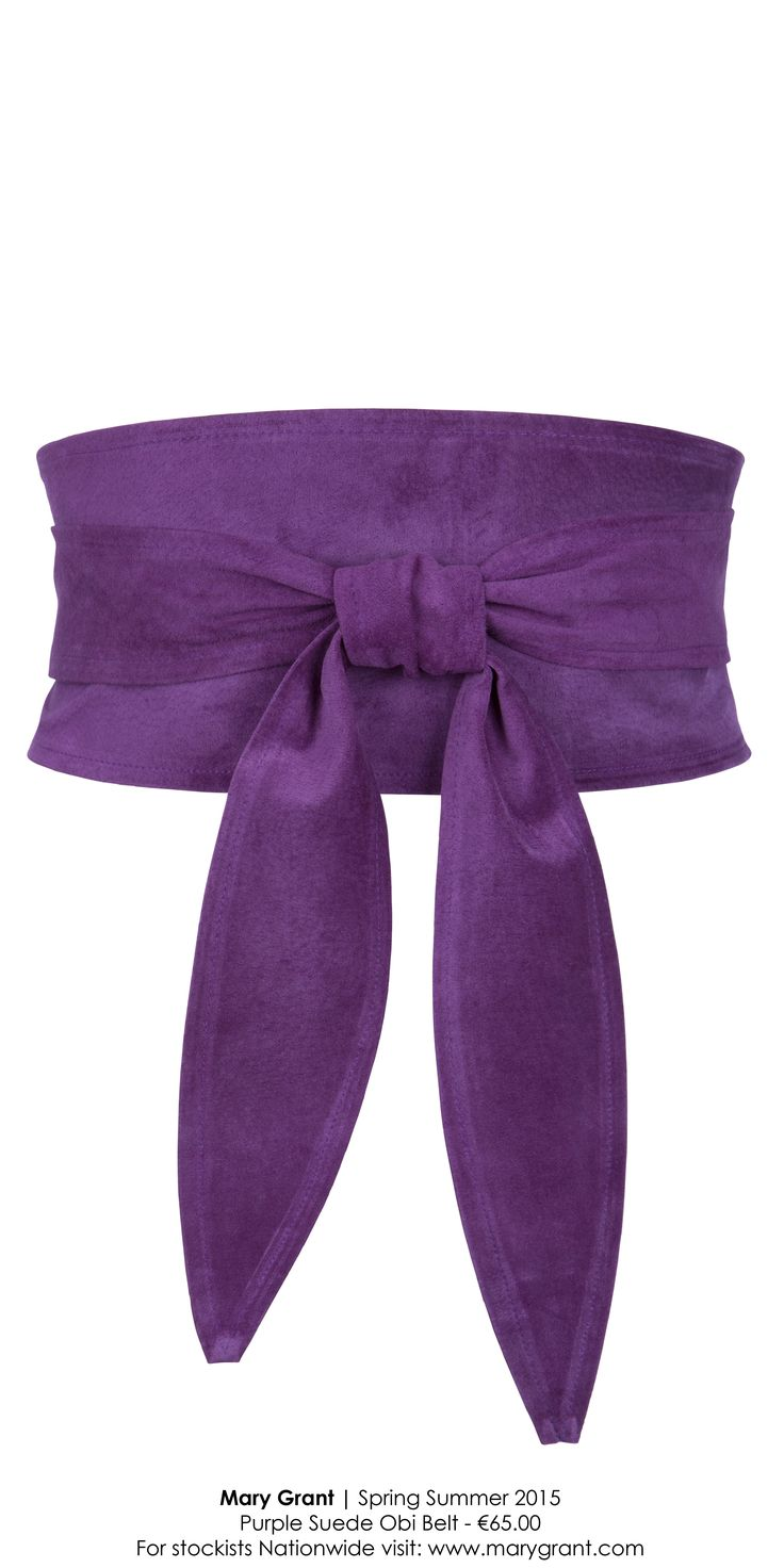 purple suede obi... so soft & comfortable to wear