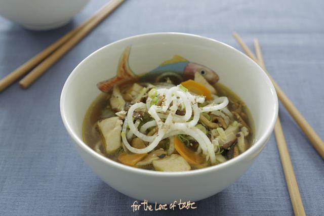 Daikon - mushroom autumn soup - grain free